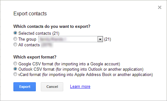 gmail-contacts-export-menu